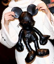 Disney Mickey Mouse Black PU Leather Plush Toy 35CM