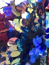 """Fantastic Hologram Big Dot Sequins Mesh Fabric 54"""" Multi-Color Pearl By The Yard"""