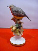Vintage Capodimonte Porcelain Bird Figurine Italy Signed