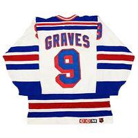 Vtg Rare NHL New York Rangers Authentic Center Ice CCM Hockey Jersey. Size 44
