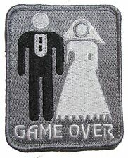 GAME OVER MARRIAGE MARRIED BALL CHAIN MILITARY ACU VELCRO® BRAND MORALE PATCH