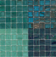 100pcs Aqua Mix Bisazza Glass Mosaic Tiles, Le Gemme GM49 GM57, Smalto SM08 SM09