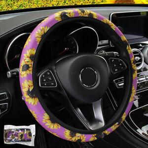 38cm/15'' Soft Auto Car Steering Wheel Covers Non-slip Universal Interior Decor