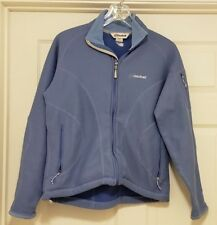 CLOUDVEIL Blue Thermal Heavy Fleece Sweater Jacket Women's Made in Canada Sz M