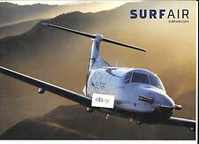 SURF AIR PRIVATE AIRLINE PILATUS PC-12 OVER GOLDEN STATE OF CALIFORNIA AD