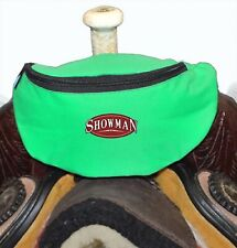 Lime Green Insulated Nylon Saddle Pouch Bag Trail Riding New Horse Tack