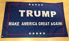 DOUBLE SIDED Blue Trump 3x5 Foot Flag 2016 Make America Great Again President
