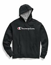 Champion Men's Script Logo PowerBlend Hoodie 2xl Black S0233