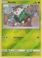 POKEMON SUN & MOON CRIMSON INVASION CARD: SKIDDO - 10/111 - REVERSE HOLO