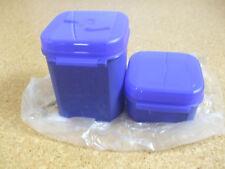 Zwei Tupperware Bellevue Behälter in royalblau, 450 ml + 1200 ml