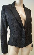 A.F. VANDEVORST Black & Charcoal Abstract Print Formal Blazer Jacket Sz40 UK10