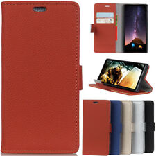 Litchi Leather wallet flip stand pouch Cover Case For Samsung Galaxy Huawei