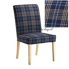 "IKEA COVER for Henriksdal Chair 21"" Rutna Check Plaid Slipcover 102.685.69 - NEW"