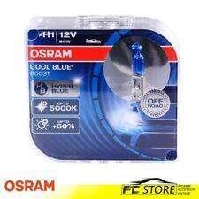 2 LAMPADE H1 OSRAM COOL BLUE BOOST 12V 80W 5000K FARI AUTO MOTO 62150CBB-HCB