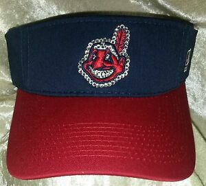 Cleveland Indians Women's Visor Rhinestone Bling MLB  ~NEW~Free Ship!