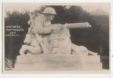 Statuary Portsmouth War Memorial Vintage RP Postcard Cosens 652b
