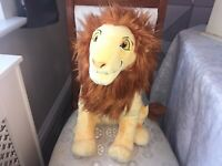 DISNEY THE LION KING MUFASA LARGE 45cm SOFT TOY PLUSH NEW TAGS BADGE TO FOOT