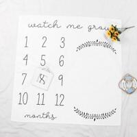 Newborn Baby Calendar Photography Blanket Number Printed Props Background Throws