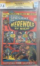 Marvel Spotlight 2 CGC 7.5 signed Neal Adams & Roy Thomas