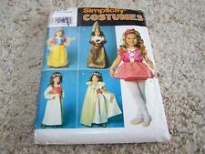 Simplicity 0678 Childs Costumes Halloween Sewing Pattern Sz 3-8 UNCUT Snow White