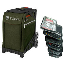 Zuca Forest Green Sport Insert Bag with Black Frame and Packing Pouch Set