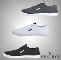 Mens Henleys Stylish Casual Lace Up Canvas Shoes Pumps Sizes UK from 6 to 12