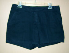 Caslon Short Shorts w/ Pockets 10 Navy Blue Chino Cotton Front Zip