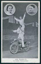 Circus Motorcycle acrobats DANIL'S original 1920-1930s postcard size Lobby Card