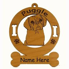 Puggle Head Dog Breed Ornament Personalized With Your Dogs Name 3763