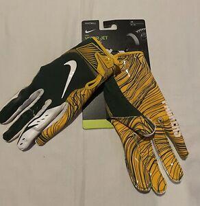 Nike NFL Vapor Jet 5.0 Green Bay Packers Football Gloves Men Size Medium NWT
