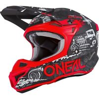 NEW Oneal MX 2020 5 Series Hotrod Black/Red Polyacrylite Motocross Helmet