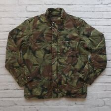 J.Crew Sussex Camouflage Quilted Jacket Size M Camo Military