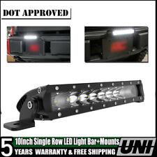 Car Crawler Accessories Super Bright 10INCH Slim LED Light Bar + Mount Brackets
