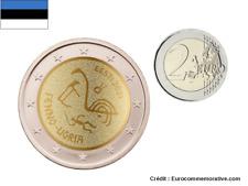 PREVENTE 2 Euros Commémorative Estonie 2021 Peuple Fenno Ugria UNC