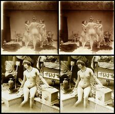 16 Stereoviews classic Nude Women in Paris 1905 Jules Richard from Glass-Plate 6