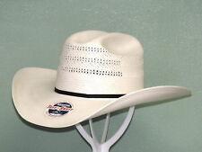 RESISTOL CHASE 20X SHANTUNG PANAMA STRAW COWBOY WESTERN HAT