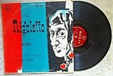 "Verdi / Florence Opera Company RIGOLETTO HIGHLIGHTS (Merit MI27) 1952 10"" LP"