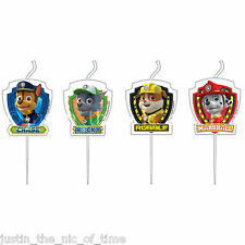 PAW PATROL Boys Party Hero Rescue Pups Birthday CANDLES Chase Marshall Rocky x4