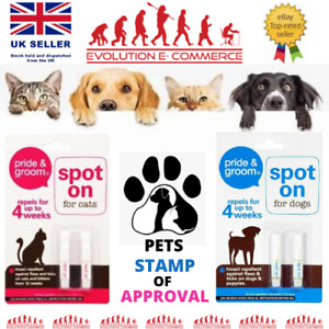 Spot On Flea And Tick Dog Puppy Small Dog Cat Kitten Treatment Pet Home Bed Room