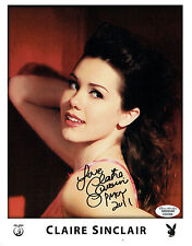 "Claire Sinclair Signed 8""x10"" Photo - Playboy PMOY 2011 #14"