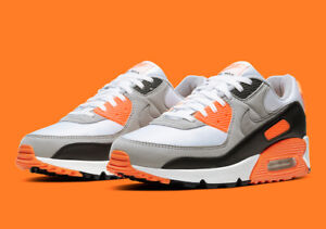 Nike Air Max 90 Recrafted SZ 11 Total Orange White Particle Grey CW5458-101