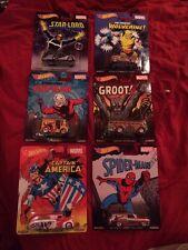 Hot Wheels 2015 Pop Culture ~  Marvel Comics 6 car set lot ~ D Case