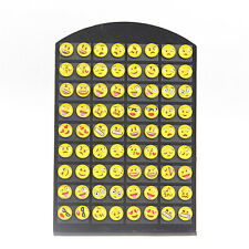 36 Pairs Cute Yellow Smiley Face Earrings Set Round EMOTICONS Emoji Ear Studs M0