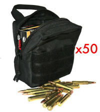 (50) 762X54 AMMO MODULAR MOLLE UTILITY POUCHES FRONT HOOK LOOP STRAP .762 X 39
