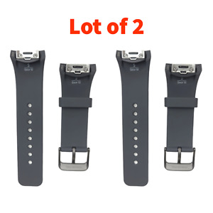 2 Samsung Original Gear S2 Replacement Strap Band Wristband SM-R720 Gray SMALL