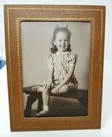 1946 Photo Beautiful Girl Child Portrait Vintage 1940's 4 yr old cardboard frame