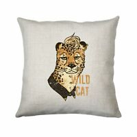 Cheetah wild cat illustration abstract design cushion cover pillowcase linen hom