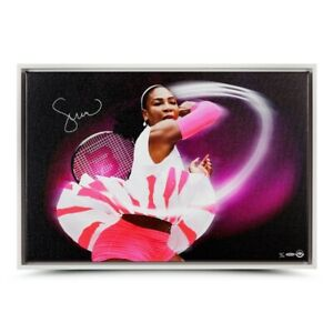 """Serena Williams Signed Autographed 20X30 Framed Canvas Photo """"Pioneer"""" #/25 UDA"""