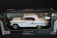 Motor Max Chevrolet Bel Air 1955 1:18 white