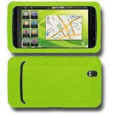 AMZER Green Silicone Soft Skin Jelly Rubber Back Case Cover Fit For Dell Streak